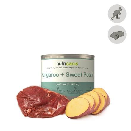 Hypoallergenic wet dog food: 200g Kangaroo & Sweet Potato