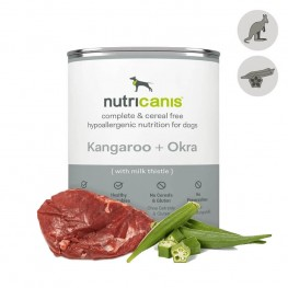 Hypoallergenic wet dog food: 800g Kangaroo & Okra